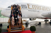 Der 6.000e Airbus © Emirates Airlines